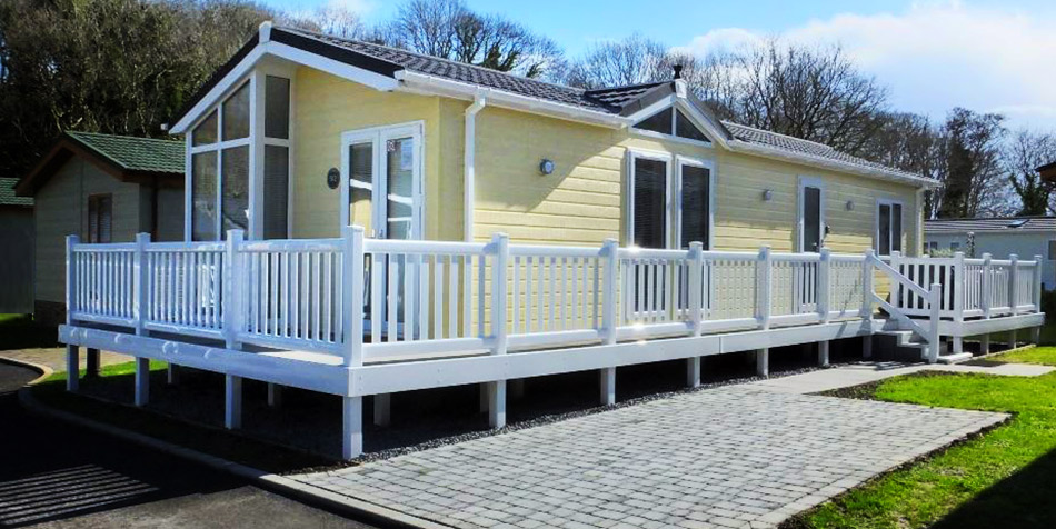 Self catering Holiday lodge at Saundersfoot