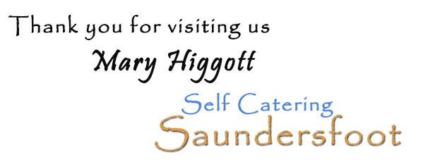 Thank you from Rob and Mary Self Catering Saundersfoot